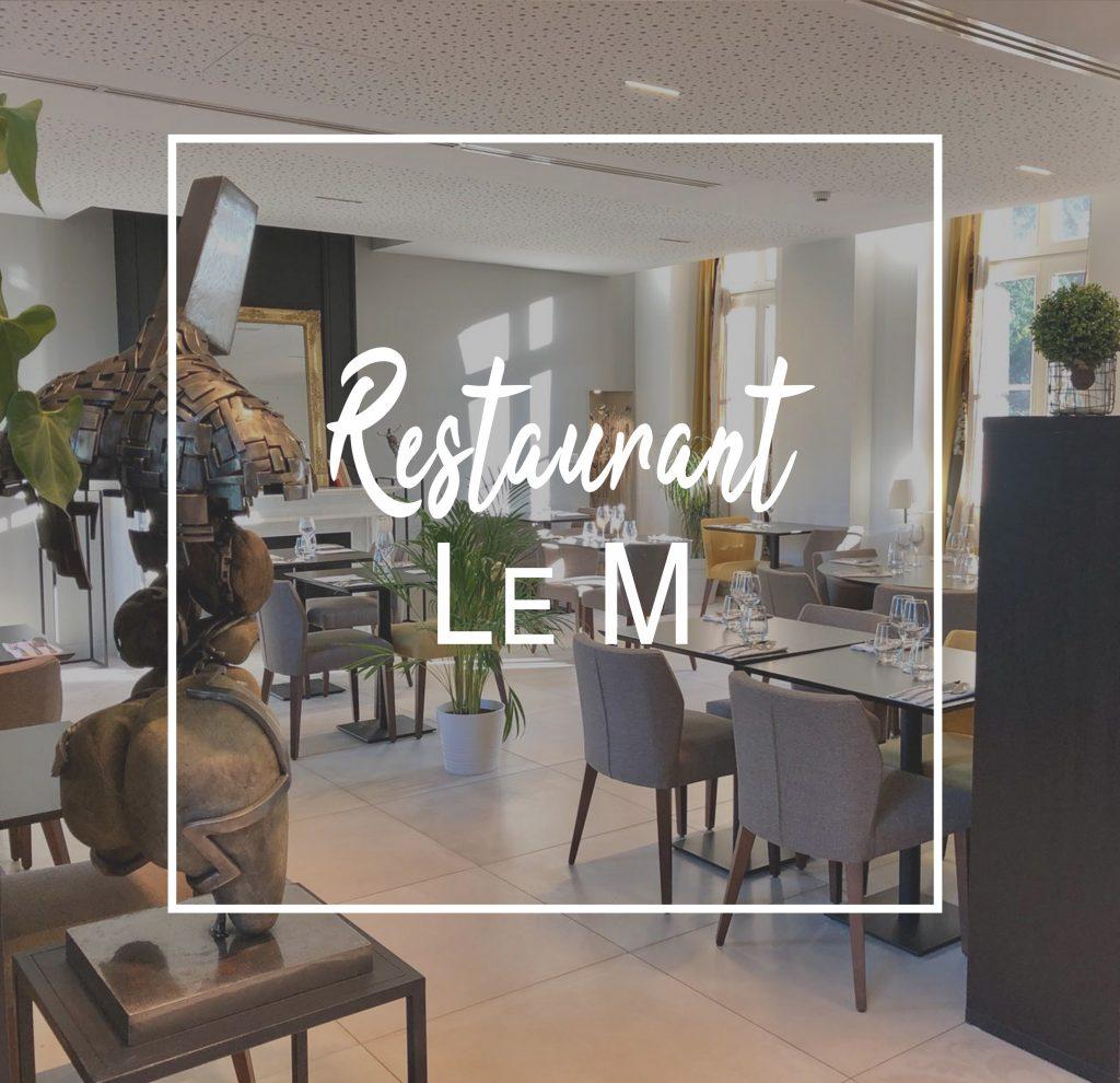 """Restaurant bistronomique """"M"""" Domaine de Montjoie Toulouse"""