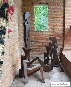Les demoiselles d'Avignon, sculptures de Gérard Bogo