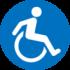 icone accès handicapé